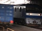 貨物列車のすれ違い