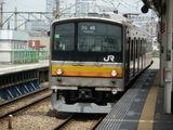 川崎行205系到着