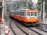 進入してきたモハ1形電車